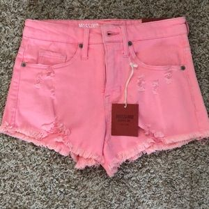 Mossimo Distressed Pink Shorts